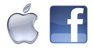 logo apple y facebook